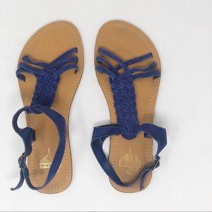 KIMCHI BLUE BRAIDED SUEDE SANDAL 7